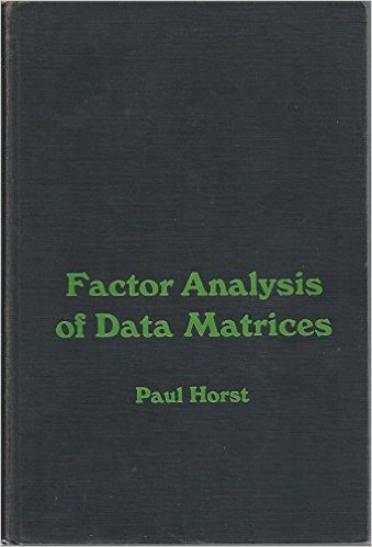 Factor Analysis of Data Matrices
